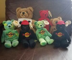 Hard Rock Cafe Plush Bear Lot 7 Bears Teddy bears