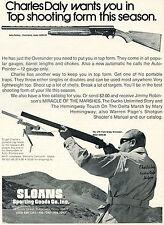 1972 Print Ad of Sloans Charles Daly Auto-Pointer & LTD Field Grade Shotgun