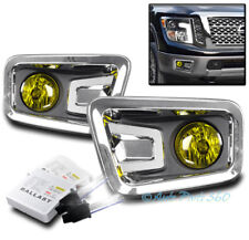 BUMPER DRIVING FOG LIGHTS LAMP YELLOW CLEAR LENS W/6K HID+SWITCH FOR 16-17 TITAN