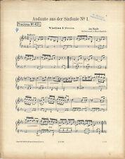 Noten für Orchester * Andante aus der Sinfonie Nr. 1 * Jos. Haydn