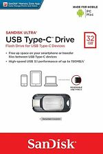 SanDisk Ultra 32GB USB 3.1 Type-C & PC 150MB/S OTG Flash Pen Drive SDCZ450-032G