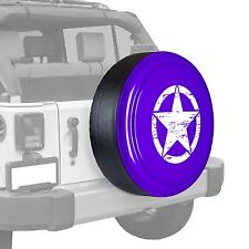Oscar Mike Star - Painted  Tire Cover fits Jeep Wrangler - Xtreme Purple