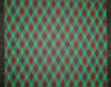 """2 1/4 Yards Vintage 1960's Double Knit Fabric Retro Plaid Green Red 60"""" Wide"""
