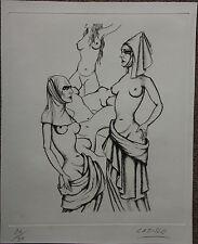 Gravure de Felix LABISSE signée num. Les femmes d'Ysabeau 1957 Marquis de Sade
