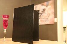 "25pcs black, textured restaurant menu cover size: 8.5""x11"""