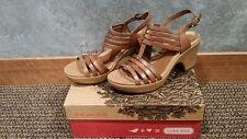 NIB Cobb Hill Women's CAS10TN Celeste Strappy Heel (Tan) Size 11