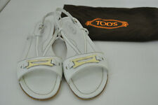 ** TOD's ** White Leather Sandals ** 36.5 ** with original dust bag **