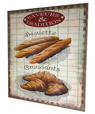 tableau toile peinture de cuisine bar resto restaurant boulangerie couvert 56x46