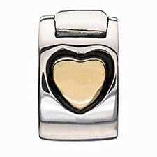 Authentic NEW Chamilia Gold Heart Lock Bead Charm MC-4