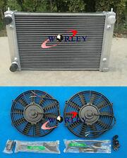 2 ROW FOR VW GOLF GTI MK2 1.8 16V 1986-1992 Aluminum Radiator + Fans