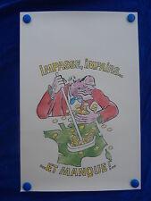 AFFICHE / Poster - CARICATURE - CHIRAC - PARIS - MARRANT / Funny !