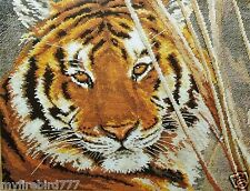 """NEW Russian Counted Cross Stitch KIT Alisa 1-08 """"Gorgeous Tiger"""" Animals"""