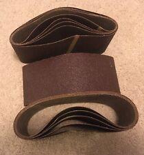 "12 3M 50 Grit Three-M-Ite Resin Bond Open Coat Cloth Sanding Belts 4""x21-3/4"""