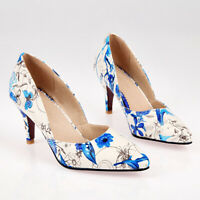 Noble Shoes Lady's High Heels Printing Pumps Pointed Toe Clubwear Shoes
