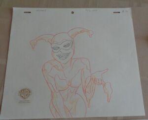 Batman Animated Series Production Drawing Harley Quinn Pie Beware the Creeper!