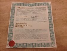 ROLEX 18ct Datejust Guarantee Papers 1990 UK