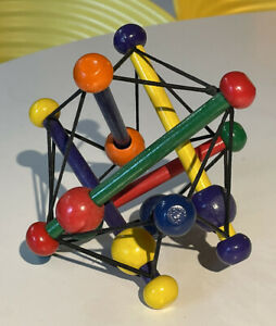 Manhattan Toy Skwish Classic Wood Elastic Baby Rattle Teether Original Colour 3