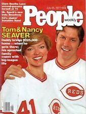 Cincinnati Reds Baseball Pitching Legend TOM SEAVER July 25, 1977  PEOPLE WEEKLY