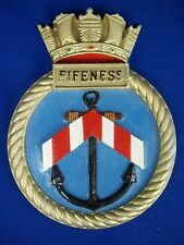 "HMS Fife Ness Ships Crest, Aluminium, 9x7"" One Off Casting Repair Ship"