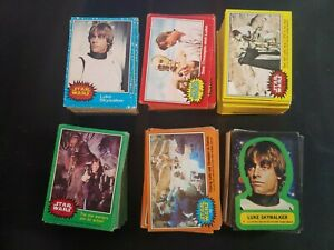 Topps 1977 STAR WARS Complete Set 330 cards 55 stickers Please Read and See Pics