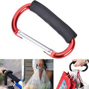 Pram Pushchair Shopping Bag Hook Carabiner Large D Ring Buggy Mummy Clip UK HFUK