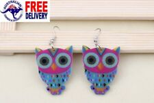 NEW Owl Acrylic Colorful Drop Dangle Hook Earring Women Girls Hot Gifts