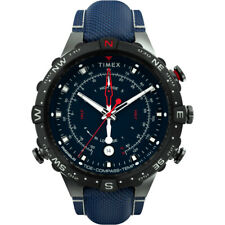 Timex Tw2T76300Jv Allied 45Mm Tide Temp Compass Gunmetal And Blue