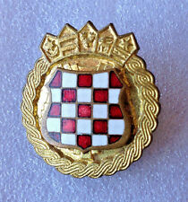 CROATIA ARMY - HV   ZNG - SOLDIER CAP BADGE FROM 1991-1995  enamel badge type 2a