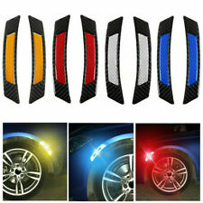 2* Car Door Edge Wheel Fender Guard Reflective Sticker Tape Decal Safety Warning