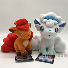 2X Pokemon Plush Ice Alolan Vulpix Fire Vulpix Soft Toys Stuffed Animal 8.5""