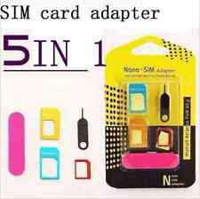 5 in 1 Nano SIM Card to Micro Standard tool for iPhone Adapter Converter Set EY