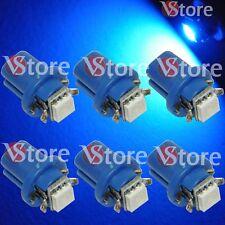 6 LED Per Cruscotto Quadro Strumenti T5 B8.5D SMD BLU Lampade Luci Lampadine W5