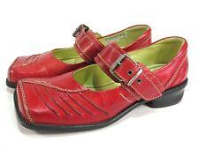 TIGGERS Leder Schuhe Spangen Schuhe rot Halbschuhe Gr. 38 NEU   Art.005