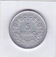 5 Francs Frankreich 1946 Frankreich Freiheit Liberty France prima Erhaltung