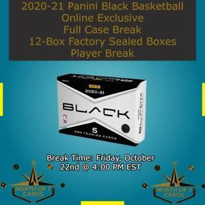 Tyrese Haliburton 2020-21 Panini Black Basketball 1X Case Break 12X Boxes