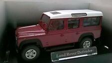 CARARAMA 1:43 AUTO DIE CAST LAND ROVER DEFENDER BORDEAUX ART 230D