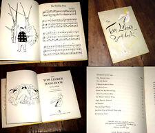 The Tom Lehrer Song Book 12 chansons piano chant 1958 illustrations Dotzchenko