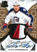 """2015-16-U.D """"THE CUP""""- JOSH ANDERSON  R.C. AUTO PATCH  GOLD #/ 24! COLUMBUS  WOW"""