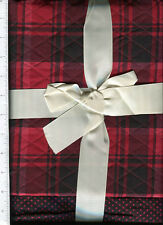 double sided pre quilted ~  BLACK & RED POLKA DOTS & PLAID ~ fabric 1 1/2