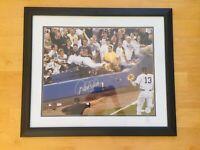 Derek Jeter NY Yankees The Dive Signed 16x20 Color Photo Framed Steiner, MLB Coa