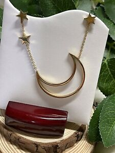 Necklace Moon Stars Stainless Steel Gold Set Earrings Include ✨ Gift Box ✨