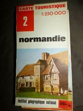 CARTE IGN rouge 2 normandie 1974