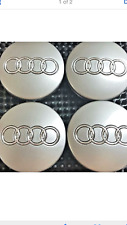 4 Pcs, Audi GRAY Chrome Logo Center Wheel Hub Cap 60mm for A3, A4, A6, A8, S4