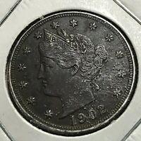 1902 LIBERTY NICKEL COIN HIGH GRADE COIN