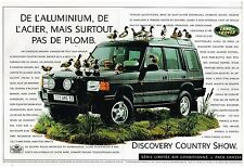 Publicité Advertising 1996 (2 pages) Le 4X4 Discovery Country show land Rover