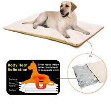 Self-Heating Dog Blanket Mattress Crate Pad Bed Large Pet Soft Washable Cushion