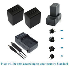 2x NP-FV100 Battery + Charger + BONUS for Sony HDR-CX330 CX900 PJ810 FDR-AX100