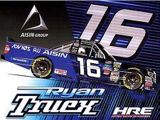 "2017 RYAN TRUEX ""ADVICS AISIN GROUP HATTORI RACING"" #16 NASCAR TRUCK POSTCARD"