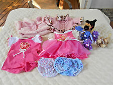 Build A Bear 7 Pieces Of Clothing & 6 BAB Animals
