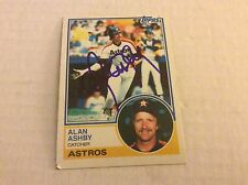 1983 Topps 774 Alan Ashby Astros Autographed Auto Signed Card